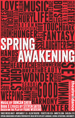 spring awakening lyrics Spring awakening is a rock musical with music by duncan sheik and a book and lyrics by steven saterit is based on the 1891 german play spring awakening by frank wedekindset in late-19th-century germany, the musical tells the story of teenagers discovering the inner and outer tumult of teenage sexuality.